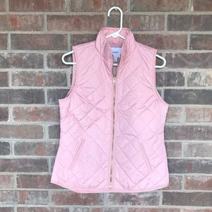 Old Navy Lightweight Quilted Vest, Pink, Small